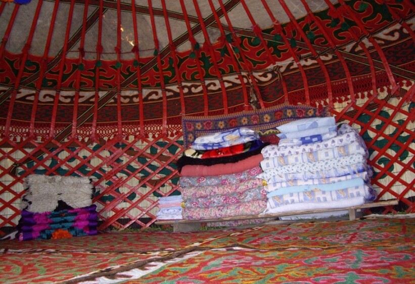 Son Kul in the yurt